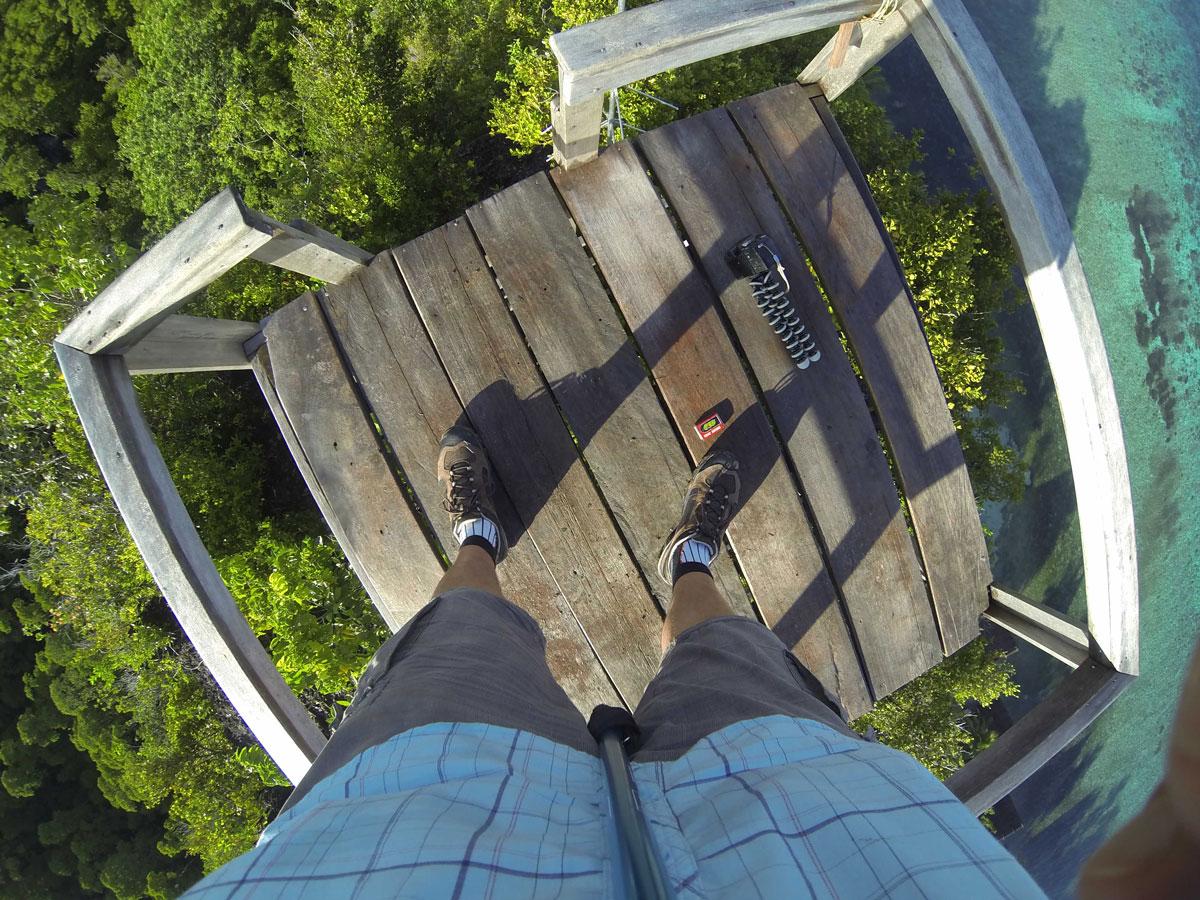 Lookout, Raja4Divers, Pulau Pef/Raja Ampat (Foto mit GoPro-Videokamera)
