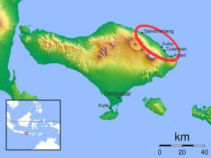 Karte Nordostbali