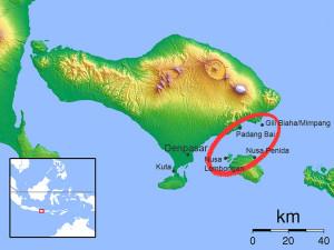 Karte Ostbali