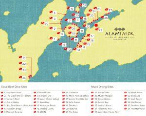 Alami Alor - Tauchplätze