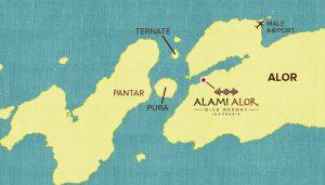 Alami Alor - map archipelago
