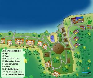 Lembeh Resort - Lageplan