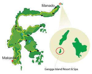 Gangga Island Resort - Map