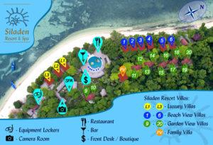 Siladen Resort & Spa - Lageplan